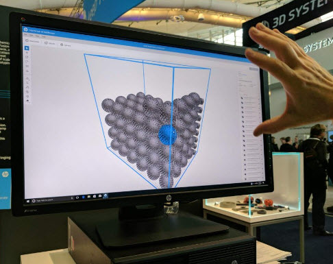 HP demonstrated the 3D build manager at RAPID 2017. (M. Petch)