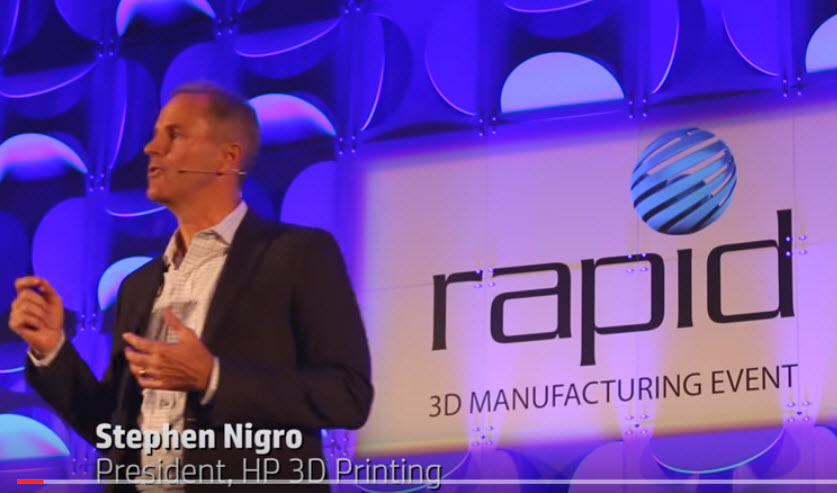 Steve Nigro announced HP's first 3D Jet Fusion printer