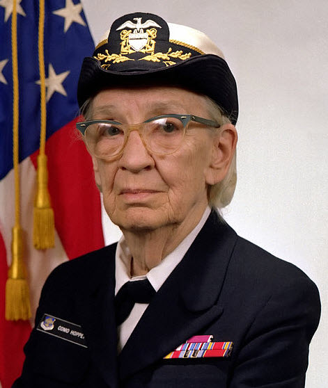 Margaret Hopper, Admiral in the U.S. Navy, taught generals to compute.