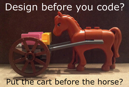 Designing an API without coding is not putting the cart before the horse.