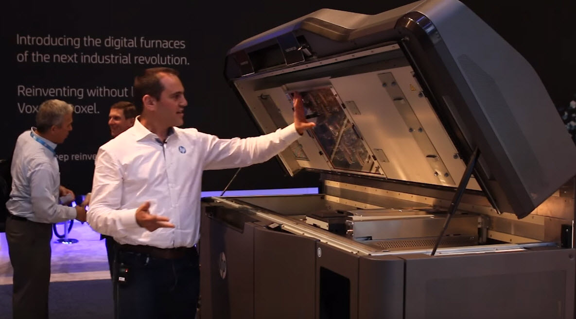 Xavier Llorens introduces HP's first Jet Fusion 3D printer