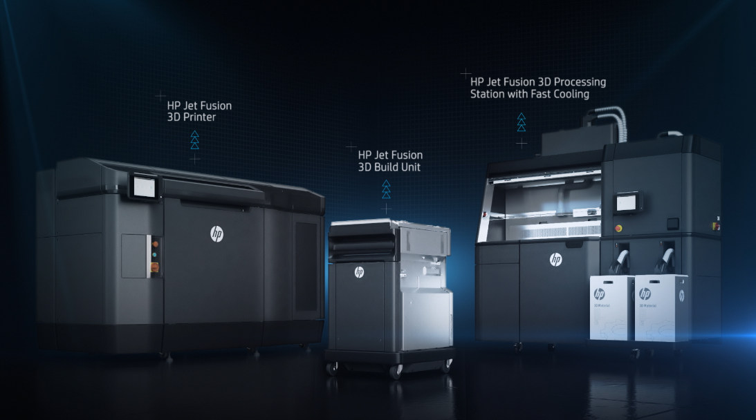HP's 3D printing solution has 3 parts