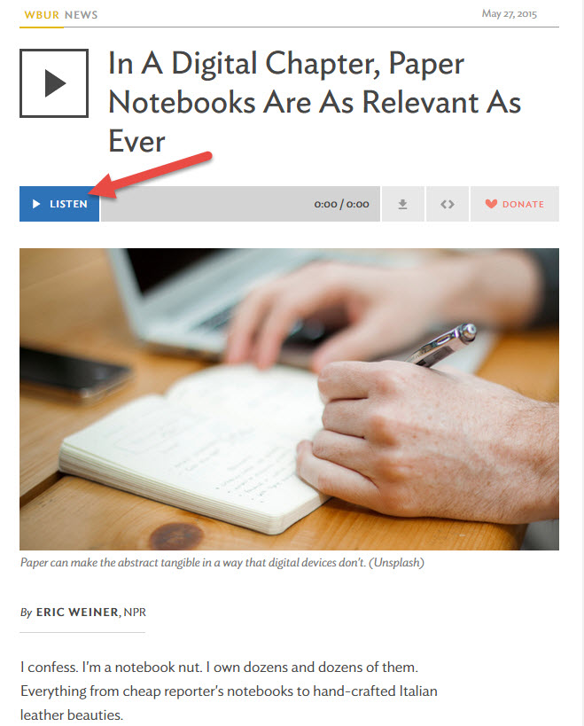 Paper makes a comeback for note taking
