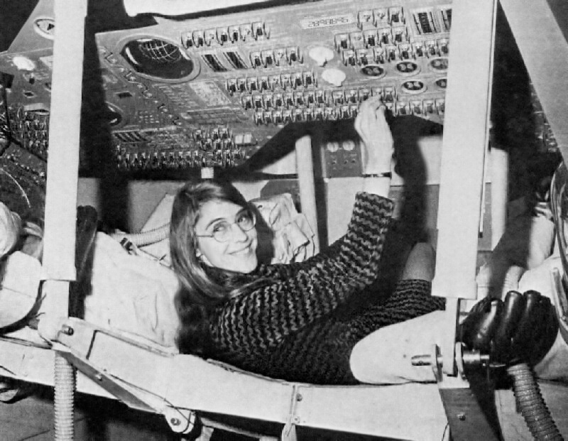 Margaret Hamilton knew her way around an Apollo space capsule.