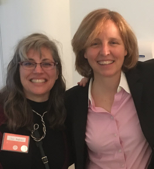 HP's Julie Anderson (left) met US CTO Megan Smith (right) at American Made summit.