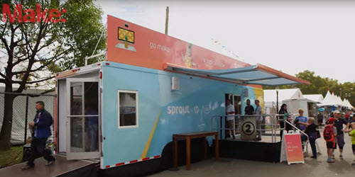 Sprout experience truck at NYC Maker Faire