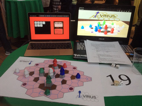 Team Virus booth at Univ. of Oregon's first Quack Hack