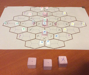 Product designer Nick Capaldini spent all night creating a prototype of his game.