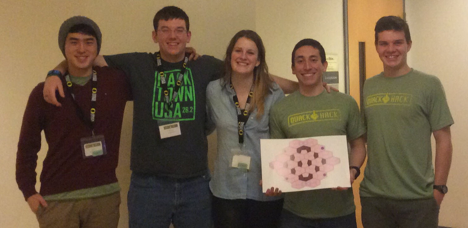 Team Virus took home the bronze medal at the first Univ. of Oregon Quack Hack