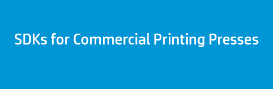 SDKs for Commercial Printing