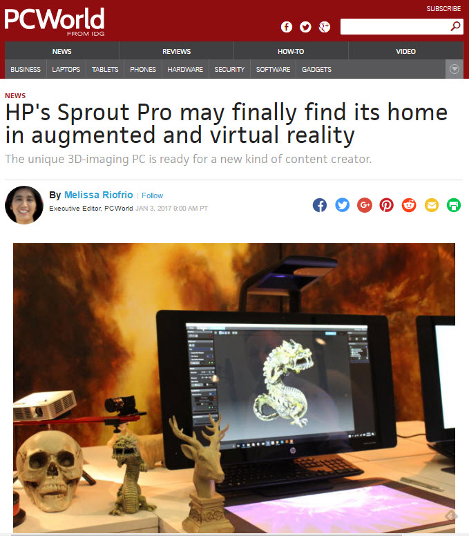 Sprout Pro by HP 2G enhanced for education, retail, and manufacturing