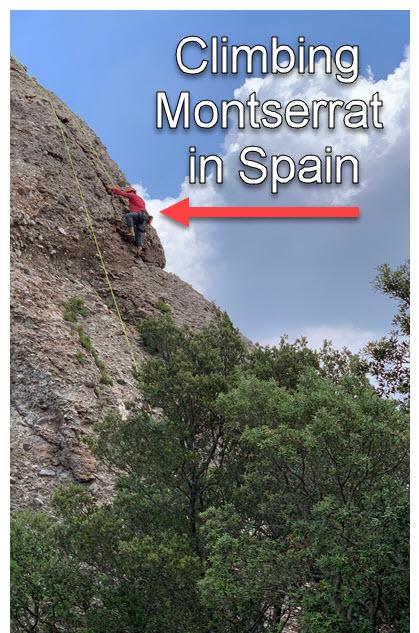 Sport wall theory met rock hard reality on Montserrat in Spain.
