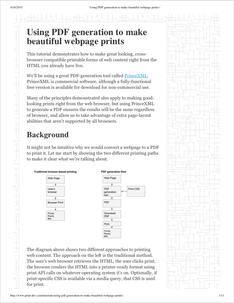 hp's Developer Portal | Printing with CSS and Media Queries