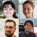 Who earned 2017 internships at HP Labs?